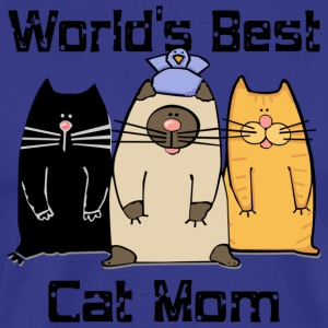 Worlds best cat mom - Men's Premium T-Shirt