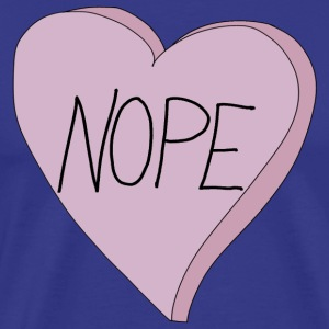 Valentine's Day Nope Heart Funny Single Slogan