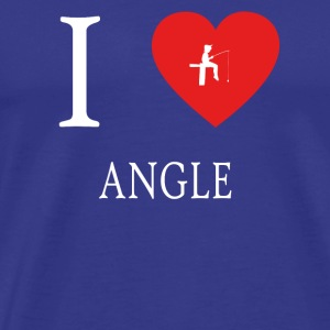 I Love ANGLE fishing angeln - Men's Premium T-Shirt