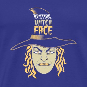 Resting Witch Face Halloween more colors at shop - Men's Premium T-Shirt