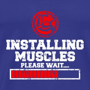 INSTALLING MUSCLES - Men's Premium T-Shirt