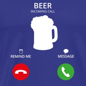 Call Mobile Anruf beer bier saufen mallorca - Men's Premium T-Shirt