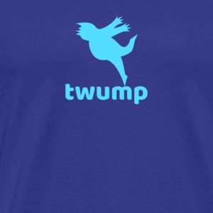 Twump Social Media Bird Logo of Chirping Trump - Men's Premium T-Shirt
