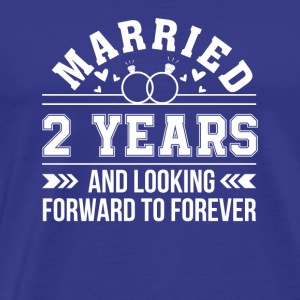 2nd Wedding Anniversary Looking Forward - Men's Premium T-Shirt