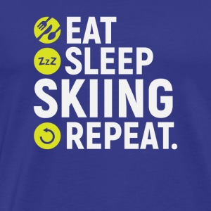 Eat, sleep, skiing, repeat - gift - Men's Premium T-Shirt