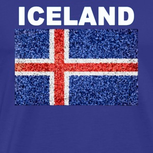 Iceland Flag Deluxe Stained Glass Effect - Men's Premium T-Shirt