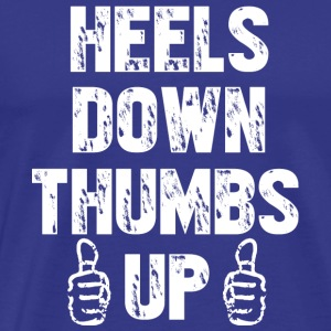 Heels down thumbs up shirts - Horse Lover tshirt - Men's Premium T-Shirt