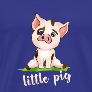 little pig piggy pink Comic cute animal baby face - Men's Premium T-Shirt