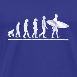 Evolution of surfing - gift - Men's Premium T-Shirt