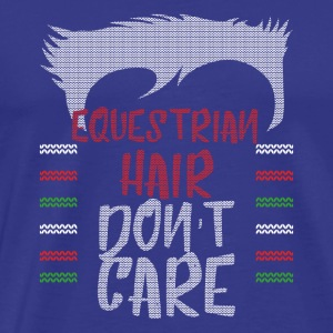 Ugly sweater christmas gift for equestrian - Men's Premium T-Shirt
