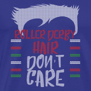 Ugly sweater christmas gift for Roller derby - Men's Premium T-Shirt