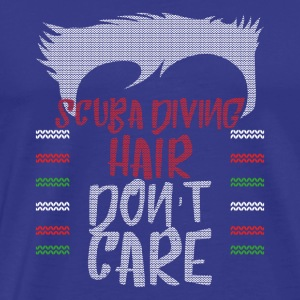 Ugly sweater christmas gift for scuba diving - Men's Premium T-Shirt