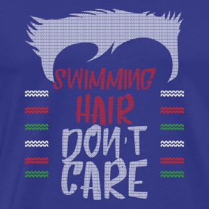 Ugly sweater christmas gift for swimming - Men's Premium T-Shirt