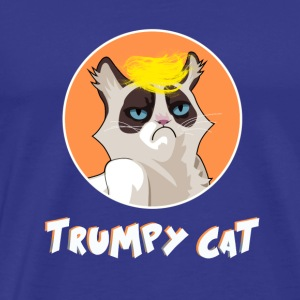 Cat Trump President USA trumpy joke karrikatur lol - Men's Premium T-Shirt