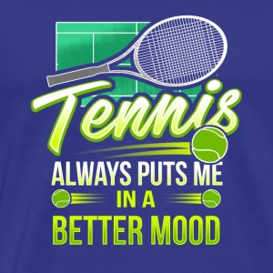 Tennis Match Player Gift Present Mood - Men's Premium T-Shirt