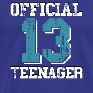 13th Birthday Gift Official Teenager for Boys - Men's Premium T-Shirt