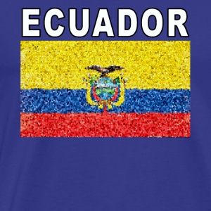 Ecuador Flag Deluxe High Detail National Design - Men's Premium T-Shirt