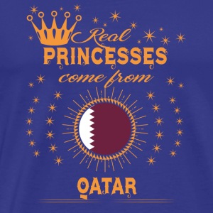 love princesses come from QATAR - Men's Premium T-Shirt