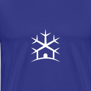 WHITE IceHouse Logo - Men's Premium T-Shirt