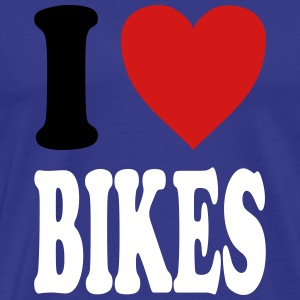 I love BIKES (variable colors!) - Men's Premium T-Shirt