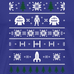 Space Christmas Ugly Sweater Ugly - Men's Premium T-Shirt