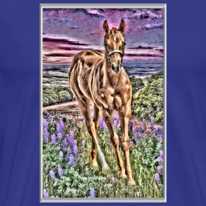 HORSE FOAL IN FIELD - Men's Premium T-Shirt