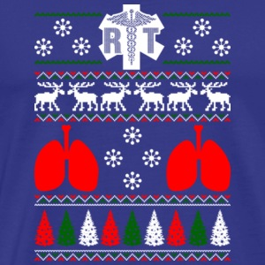 Respiratory RT Ugly Christmas Sweater Xmas - Men's Premium T-Shirt