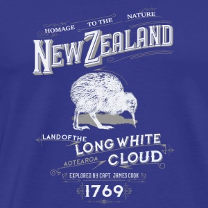 new zealand long white cloud - Men's Premium T-Shirt