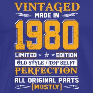 Vintaged Made In 1980 Limited Editon - Men's Premium T-Shirt