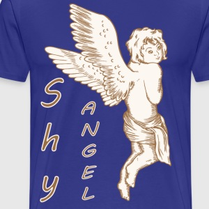 Shy Angel with Wings - Men's Premium T-Shirt