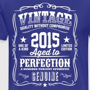 Vintage 2015 Aged to Perfection - Men's Premium T-Shirt