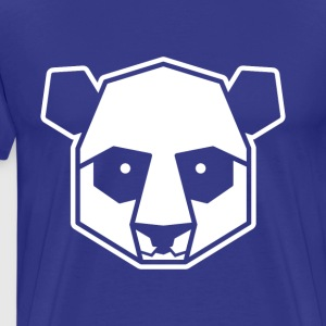 Geometric Panda Illustration Art Animal Zoo - Men's Premium T-Shirt