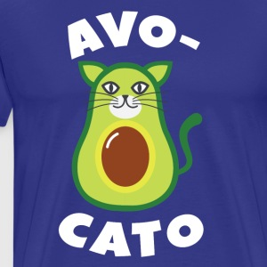 Avogato Cat Vegan Avocato Dog Animal Design - Men's Premium T-Shirt
