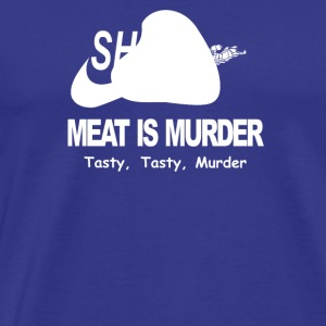 Meat Is Murder Tasty Tasty Murder Funny BBQ - Men's Premium T-Shirt