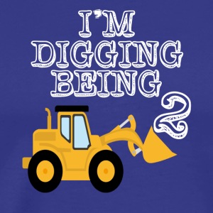 2nd Birthday Bulldozer Construction - Men's Premium T-Shirt
