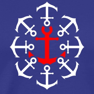 Anchor red - I love sailing and the sea - Men's Premium T-Shirt
