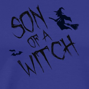 Funny Halloween Son Of A Witch Tee - Men's Premium T-Shirt