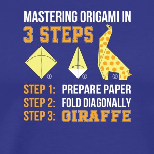 Origami In 3 Steps Paper Diagonally Giraffe - Men's Premium T-Shirt