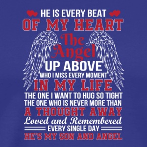 Hes Every Beat Heart Angel Son Memorial - Men's Premium T-Shirt