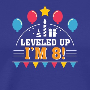 Leveled Up Im 8 Funny 8th Birthday Gamer - Men's Premium T-Shirt