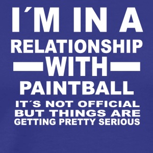 relationship with PAINTBALL - Men's Premium T-Shirt