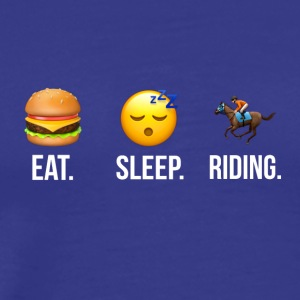 Eat Sleep Riding - Men's Premium T-Shirt