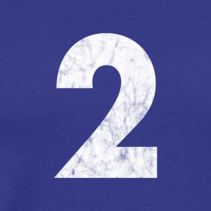 2 distressed, 2, Two, Number Two, Number 2 - Men's Premium T-Shirt