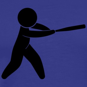 A Baseball Player Hits The Ball - Men's Premium T-Shirt