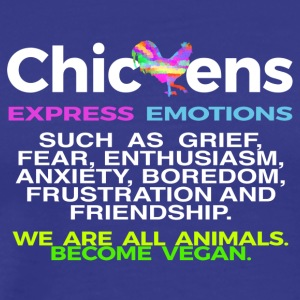 CHICKENS EXPRESS EMOTIONS - Men's Premium T-Shirt