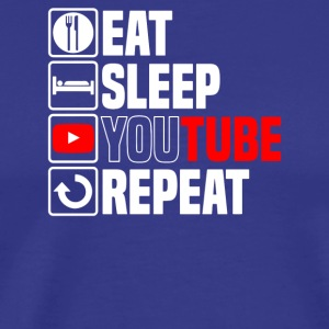 Eat Sleep Youtube - Men's Premium T-Shirt
