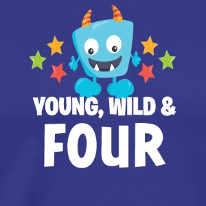 Young wild and Four - Men's Premium T-Shirt