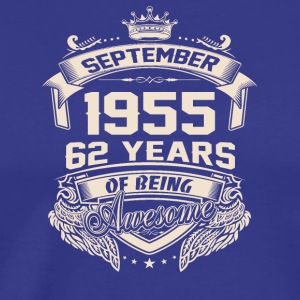 Made in 1955 62 YEARS of being awesome - Men's Premium T-Shirt