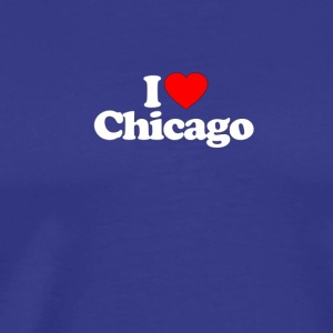 I Love Heart CHICAGO Funny T Shirt Premium - Men's Premium T-Shirt