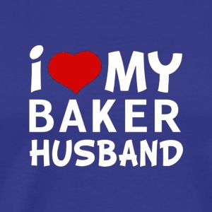 I Love My Baker Husband T shirt Women s Shirts - Men's Premium T-Shirt